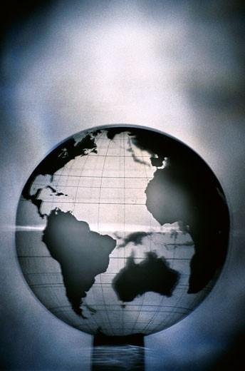 Close-up of a globe : Stock Photo