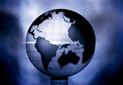Stock Photo: 1525R-81340 Close-up of a globe