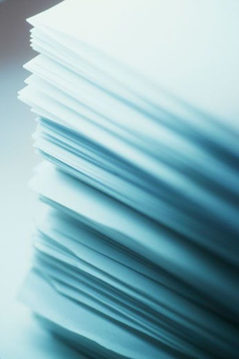 Stock Photo: 1525R-81600 Close-up of a stack of paper