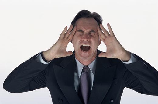 Stock Photo: 1525R-81889 Businessman shouting