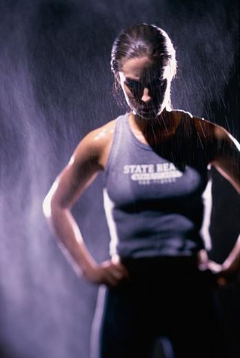 Woman exercising : Stock Photo
