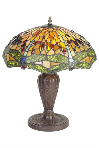 Stock Photo: 1525R-9382 stained glass lamp 2
