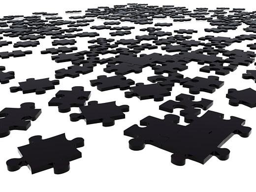 Stock Photo: 1525R-96098 Jigsaw pieces