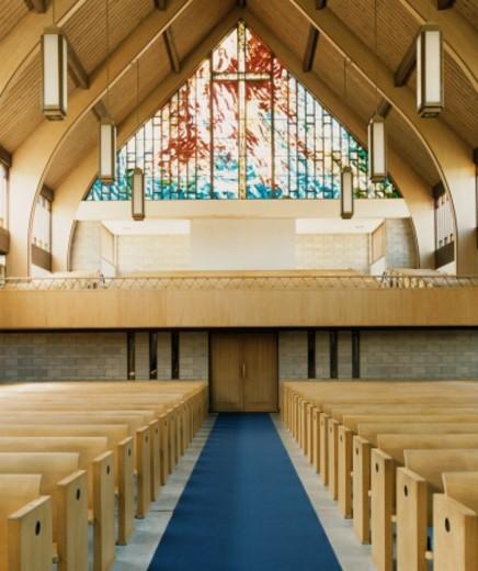 Stock Photo: 1527R-010701 Protestant Church Interior