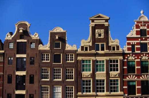 Building Facades, Amsterdam, Holland, Netherlands : Stock Photo