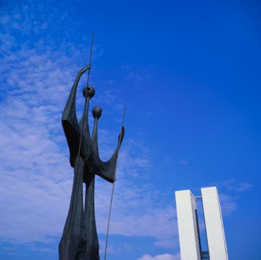Os Candangos Monument, Brasilia, Brazil : Stock Photo