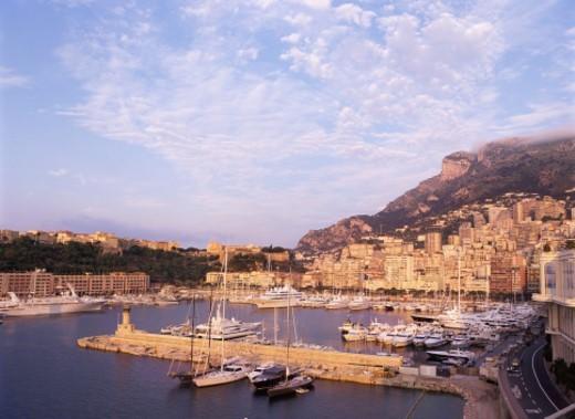 Elevated View of Monaco Harbour : Stock Photo