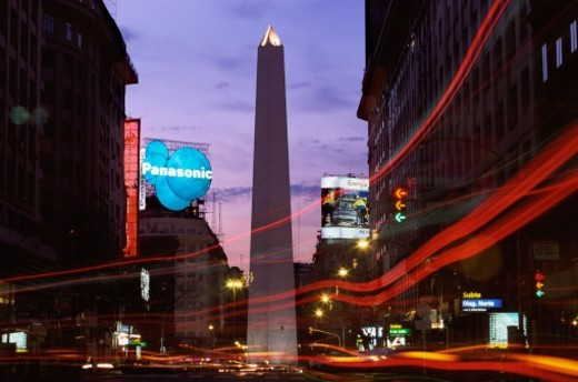 Stock Photo: 1527R-015054 Obelisk, Buenos Aires, Argentina