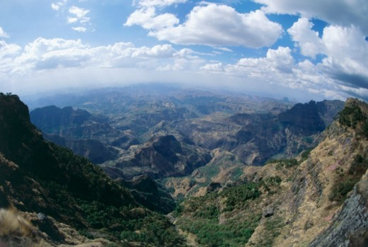 Stock Photo: 1527R-018400 Simien Mountain Range, Ethiopia, Africa
