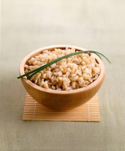 Stock Photo: 1527R-019710 Brown Rice