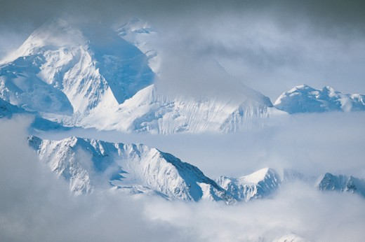Stock Photo: 1527R-04552 Mountains, Denali National Park, Alaska, USA