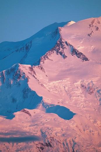 Stock Photo: 1527R-04554 Mt McKinley, Denali National Park, Alaska, USA