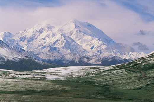 Mt McKinley, Alaska Mountain Range, Denali National Park, Alaska, USA : Stock Photo