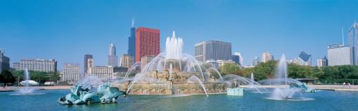 Stock Photo: 1527R-04803 Buckingham Fountain, Chicago, USA