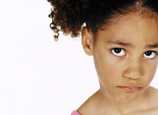 Portait of a Sad Young Girl : Stock Photo