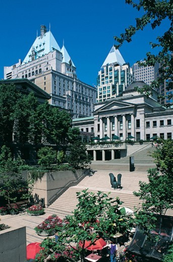 Robson Square, Vancouver, Canada : Stock Photo