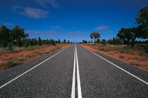 Stock Photo: 1527R-0818 Road, Alice Springs, Northern Territory, Australia