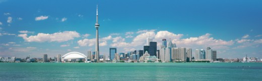 Stock Photo: 1527R-09852 Toronto Skyline, Canada