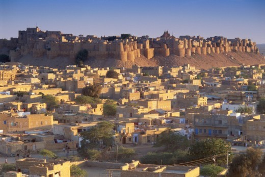 India, Rajasthan, Jodhpur, Meherangarh Fort : Stock Photo