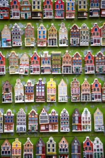 The Netherlands, Amsterdam, model houses : Stock Photo