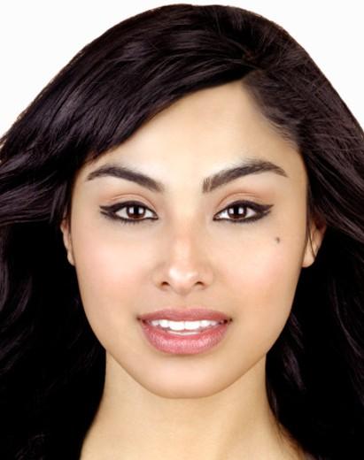 Young woman smiling, close-up, portrait (Digital Enhancement) : Stock Photo