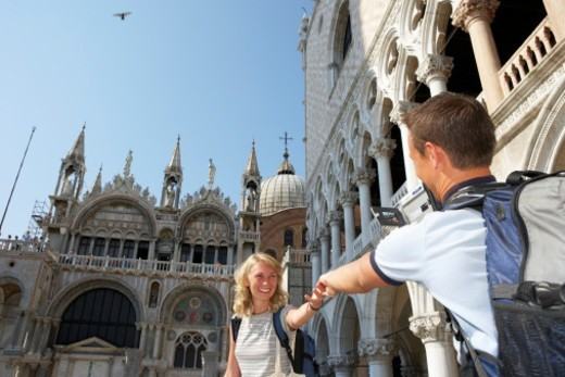Jun 2005, St Mark's Basilica and Doge's Palace. : Stock Photo