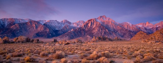 USA, California, Eastern Sierra Mountains and Alabama Hills, sunrise : Stock Photo