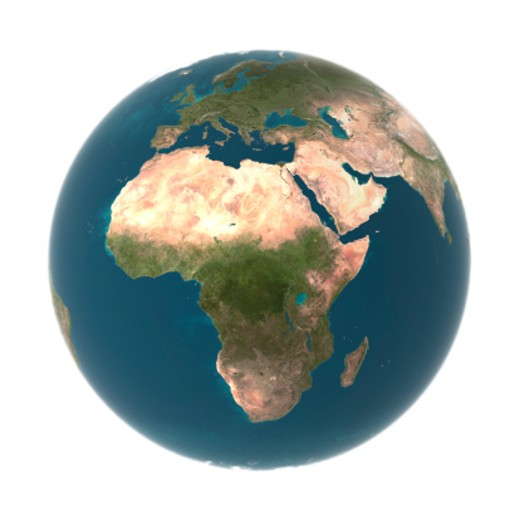 Stock Photo: 1527R-1141363 Globe with Africa prominent (Digital)
