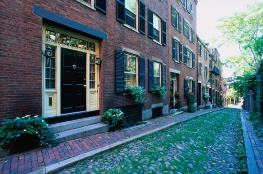 Stock Photo: 1527R-1142782 Colonial style architecture