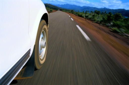 Stock Photo: 1527R-1142833 Car Driving on Grand Terre Island