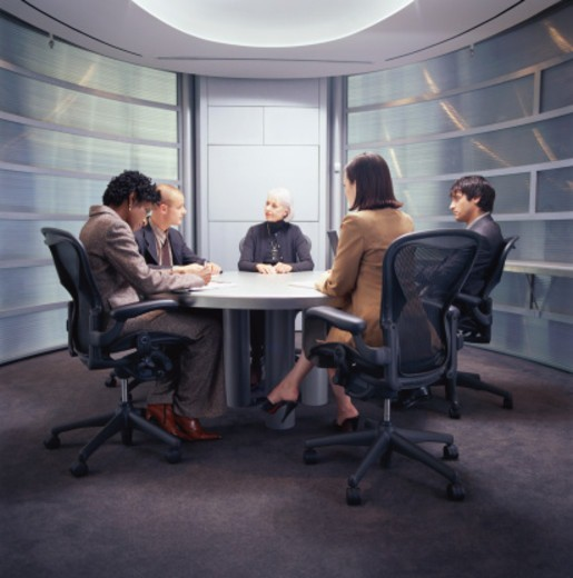 Stock Photo: 1527R-1145293 Business meeting in conference room