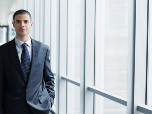 Stock Photo: 1527R-1161391 Business executive smiling, portrait