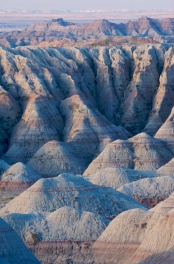 Stock Photo: 1527R-1172095 USA, South Dakota, Badlands National Park, rock formations