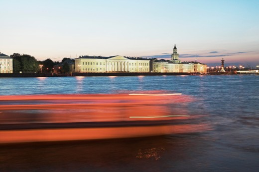 Stock Photo: 1527R-1176355 Russia, St Petersburg at dusk from Neva River