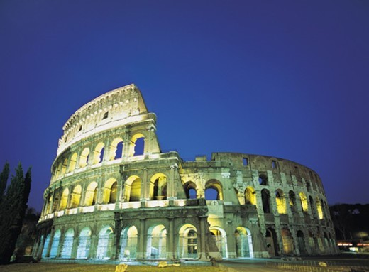 Stock Photo: 1527R-1180801 Colosseum at Night, Rome, Italy