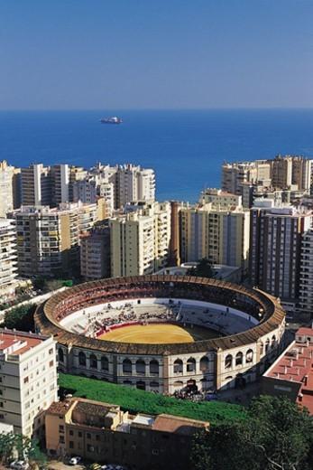 Stock Photo: 1527R-1181380 Bullfighting Arena, Malaga, Spain