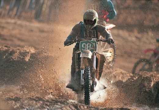 Dirt Bike Racing : Stock Photo
