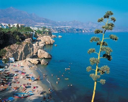 Nerja, Costa Del Sol, Malaga, Spain : Stock Photo