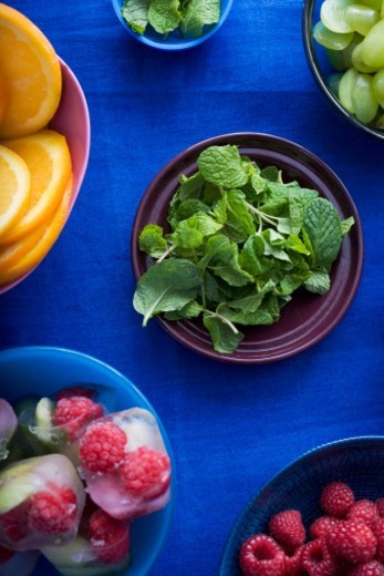 Stock Photo: 1527R-1183835 Fresh ingredients on table, close-up