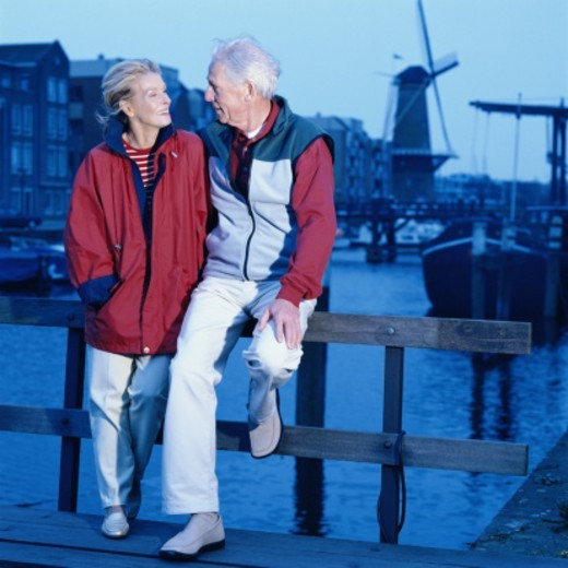 Stock Photo: 1527R-1186984 Mature Couple on Canal, Netherlands