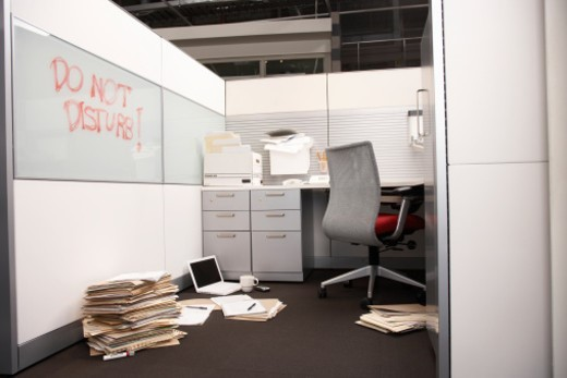 Stock Photo: 1527R-1189969 Empty office room