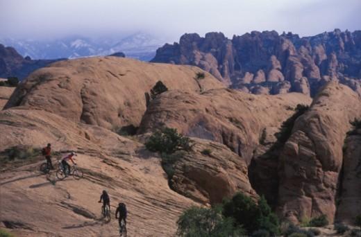 Stock Photo: 1527R-1196320 Amasaback trail, Utah, USA