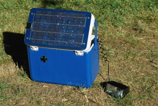 Portable solar power pack : Stock Photo