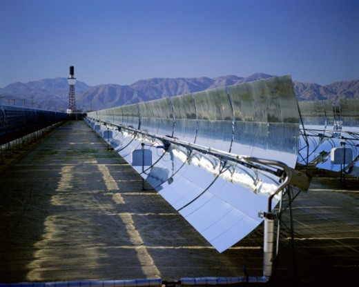 Stock Photo: 1527R-1205695 Solar plant at Barstow, California