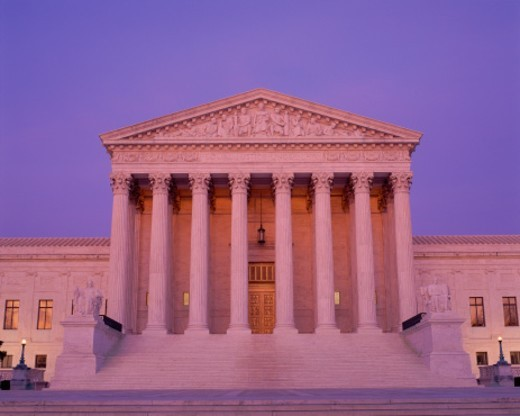 Stock Photo: 1527R-1205910 Supreme Court Building at dusk