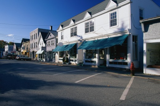 Storefronts in Mount Desert Island : Stock Photo