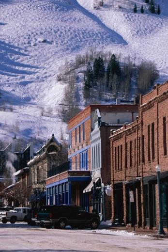 Stock Photo: 1527R-1206000 Storefronts, Aspen, Colorado
