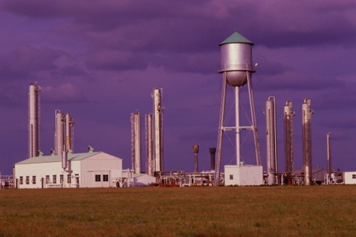 Oil refinery, Tyrone, Oklahoma : Stock Photo