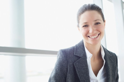 Stock Photo: 1527R-1208305 Portrait of businesswoman, smiling