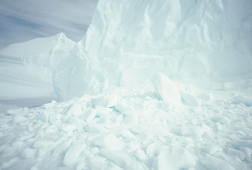 Iceberg, Baffin Island, Canada, surface view, (Close-up) : Stock Photo